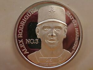 Alex Rodriguez Seattle Mariners 1 oz .999 Silver Round Limited Edition #25
