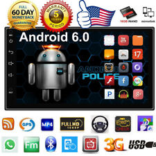 "Android 6.0 Car Radio Stereo MP5 7"" Quad Core 3G WIFI Double 2DIN Player GPS US"