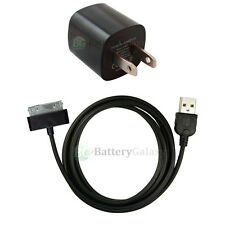 HOT! NEW USB Black Wall Charger+Cable Data Sync for Apple iPod Touch 1G 2G 3G 4G