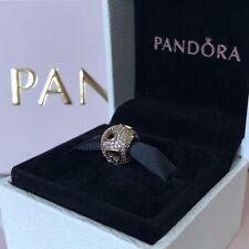PANDORA 14ct Gold Tumbling Hearts Openwork Charm 750840CZ Genuine