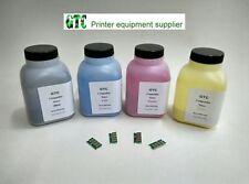 4 Refill Toner + 4 Reset Chip for RICOH Aficio SP C250 C250SF, SP C250DN