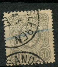 "Germany 1875-9 SG#36a 50pf Grey ""Pfennige"" With E Used Cat £500 #A46468"