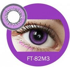 Lentille de couleur violet 2 tons FT82M3 - violet color contact lenses