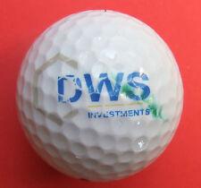 Pelota de golf con logo-dws investments-golf logotipo Ball-como amuleto de recuerdo