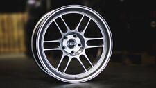 ESR SR11 5x114.3 18x8.5 Hyper Black Wheels JDM RPF1 Style Rims (set of 4)