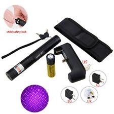 2 IN1 303 1mW 405nM Einstellbarer lila Laserpointer Stift+ Schlüssel + Ladegerät