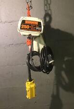 Harrington Mini Electric Chain Hoist 250 Lb Capacity 120v 15 Foot Works Great