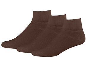 Men's Big and Tall Diabetic Non-Binding Comfort Top Ankle Quarter Socks 3-Pack