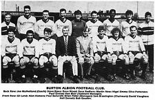 BURTON ALBION FOOTBALL TEAM PHOTO>1986-87 SEASON