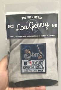 Official Lou Gehrig Day Patch 4 ALS MLB June 2 2021 Baseball Jersey Patch Yankee
