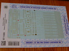 Microscale Decal HO #87-1409 Southern (SRR) Steam Locomotives - Crescent Limited