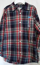 BOYS XL 14 NAVY MILK GRAY GREEN RED WHITE PLAID SHIRT NWT ~ THE CHILDREN'S PLACE