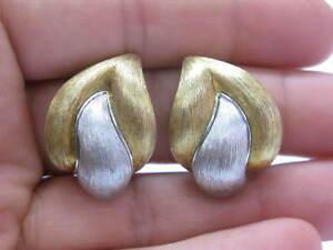 Henry Dunay Platinum/18Kt 2-Tone Huggie Earrings 34.4g
