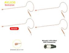 Compatible to Audio Technica ATW 27, 31 Single Ear Hirose 4 pin Tan Headset Mic