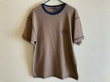Men's B.U.M. Equipment shirt size Large brown thermal short sleeves