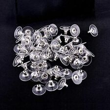 Clear Rubber Ear Stud Backs Earring Back Stoppers Stopper Plugs Earring Pads