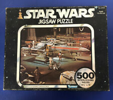 Vintage 1977 STAR WARS Jigsaw Puzzle - X-Wing Fighters Prepare to Attack Sealed!