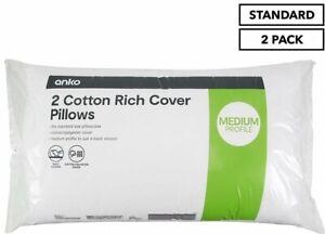 Cotton-Rich Medium Pillow 2-Pack