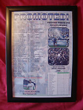Preston North End promoted from League One - 2015 - framed print