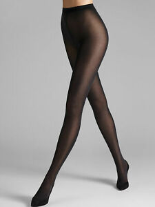 Wolford NWT 7005 Black Velvet De Luxe 50 Tights Size L