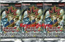 YUGIOH 3 X METAL RAIDERS  BOOSTER PACKS LC01 - *NOT SCALED*