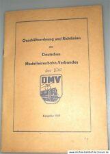 Deutscher Modelleisenbahn Verband der DDR Geschäftsordnung Richtlinien 1969   å