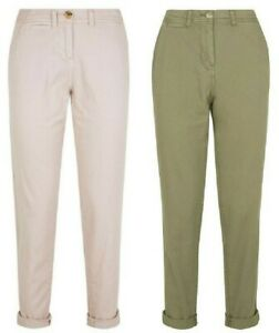Women Ladies ex New Look twill chino trousers - Sizes 6 to 18 - 2 cols