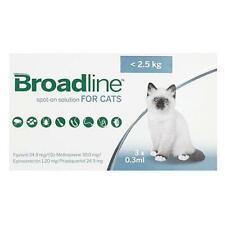 Broadline Spot-On Small Cats Under 2.5kg (5.5 lbs) - 3 Pack