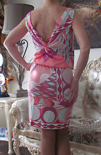 EMILIO PUCCI Runway,Multicolored,Stretchy,Signed Dress It 46,US 10-12,UK 14,L-XL