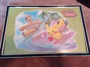 New Pokemon Snap GameStop Exclusive Preorder Bonus Framed 11x17