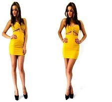 Madison Square Forever Cut Out Santorini Dress Mustard Size S/8 RRP $79.99 New