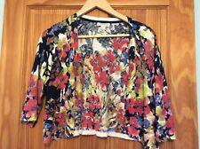 Gorgeous Adrienne Vittadini Multi Coloured Summer Shrug Size L