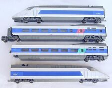 Jouef HO 1:87 French SNCF HIGH SPEED TGV ATLANTIQUE 4-Piece MULTIPLE UNIT NM`85!