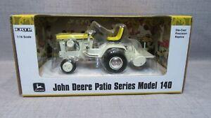 1/16 Ertl John Deere Patio Series Model 140 April Yellow Garden Tractor W Tiller