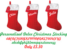 PERSONALISED DELUX CHRISTMAS STOCKING
