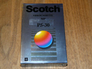 Scotch Video 8 P5-30 Leerkassette Videokassette neu in Folie, vintage video tape