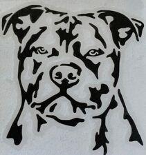 1x Staffy Dog Vinyl Sticker Decal Graphic Car Van Window Black