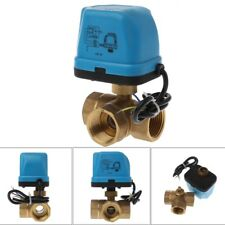 Electric Motorized Brass Ball Valve DN25 AC 220V 3 Way 3-Wire with Actuator
