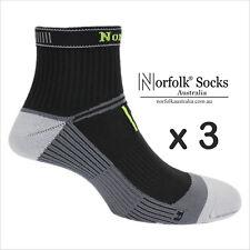 3 Pairs Norfolk Mens Cycling Socks 'High Vis Design 'Microfibre' -Vincenzo