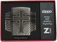 Zippo Feuerzeug Celtic Kreuz Artwork Multicut Heavy Wall Armor Case 60004304