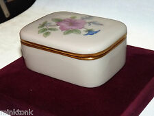 Vintage Lenox Floral Rare Box w Lid, Green Marking Usa Made in1950s Collectible