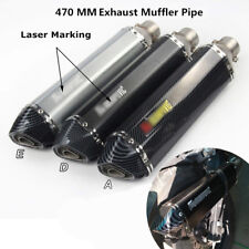 470mm Motorcycle Exhaust Tips Muffler Tail Pipe with DB Killer Slip on 38-51mm
