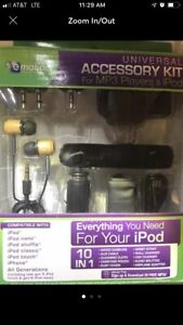 Ematic Universal Accessory Kit for iPod and MP3 Players Compatible with many