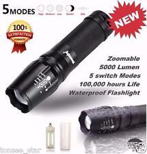 SKYWOLFEYE NEW 5000 Lumen 5 Modi T6 Zoomable LED 18650 Taschenlampe G700 X800