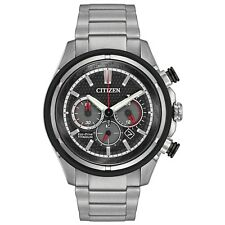 Citizen Eco-Drive Men's CA4240-82E Titanium Chronograph Black Dial 46mm Watch
