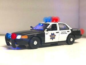 1/18 Scale SFPD San Francisco Police K9 Dog FCV Diecast Working Lights  SIREN Ut