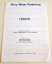 Partition sheet music GERALD DE PALMAS : Vérité * 90's