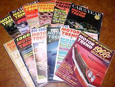 1965 65 Motor Trend Set 12 vol Olds Mustang Chevrolet AMC Ford Lincoln Chrysler