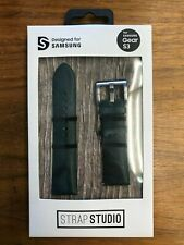 New Genuine FOR Samsung Gear S3 or S2 GREEN LEATHER BY STRAP STUDIO NAPPA  22MM