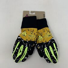 Nike Lab ACG Women's Shield Running Gloves Sz Small Yellow Ochre/Black/Volt Glow